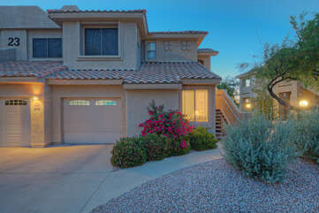 Welcome to our 2 BR, 2 BA one story condo with a one car garage.