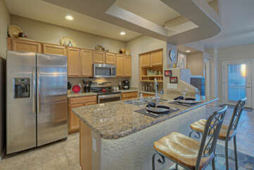 Kitchen is a bright and charming place to prepare your favorite cuisine
