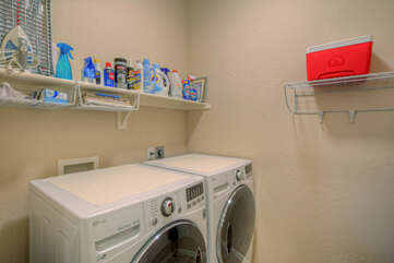 Dedicated in-unit laundry room helps you keep your wardrobe ready for the next adventure