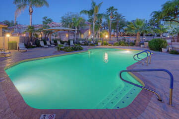 Lovely, heated pool is ready for a refreshing splash year round