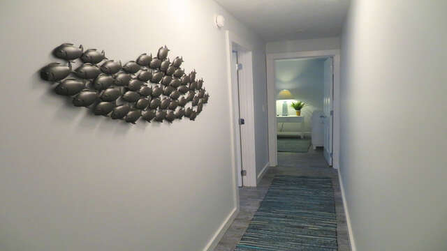 Hallway to both bedrooms and full bath- 945 Commercial St Provincetown Cape Cod New England Vacation Rentals