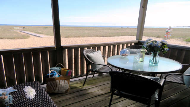 Dining with a view!! Gas grill around back945 Commercial St Provincetown Cape Cod New England Vacation Rentals