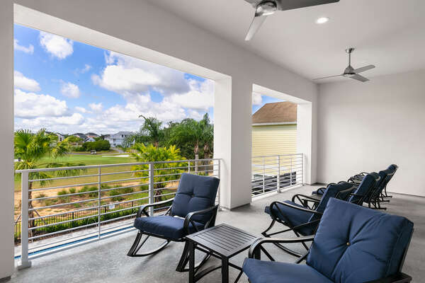 Enjoy beautiful views off the second floor balcony