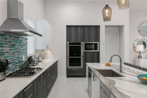 Prepare a gourmet meal in the fully equipped contemporary kitchen