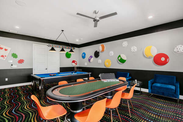Host a friendly game of poker with friend and family