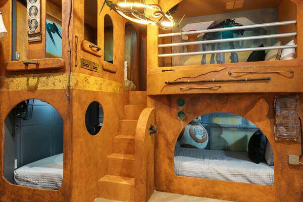 Be transported to another galaxy in this fun bedroom