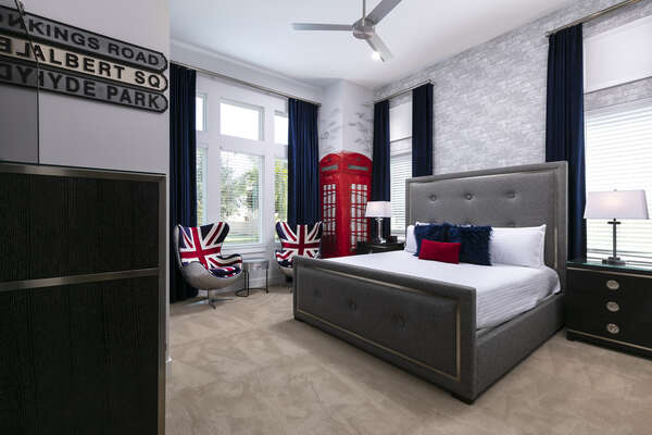 Sleep peacefully in this London themed suite