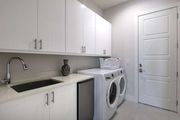 Your own personal washer and dryer so you don`t have to worry about laundry