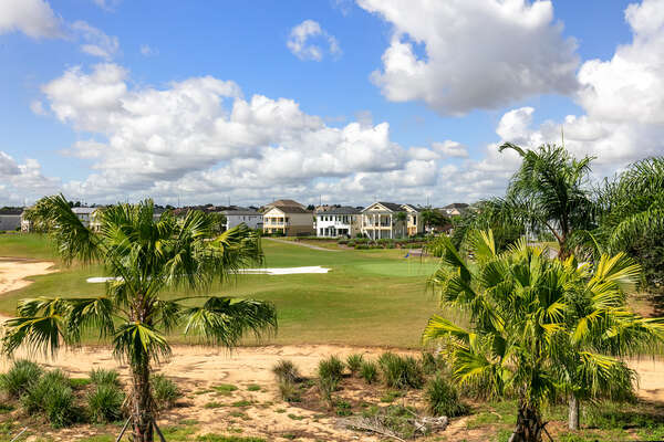 Take in the beautiful golf-course views