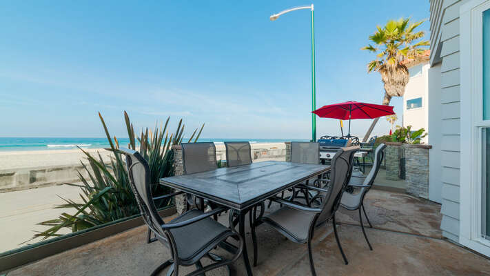 Patio with Outdoor Dining Table for six