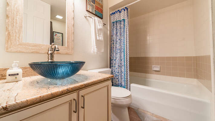 Full Guest Bath with Shower/Tub Combo