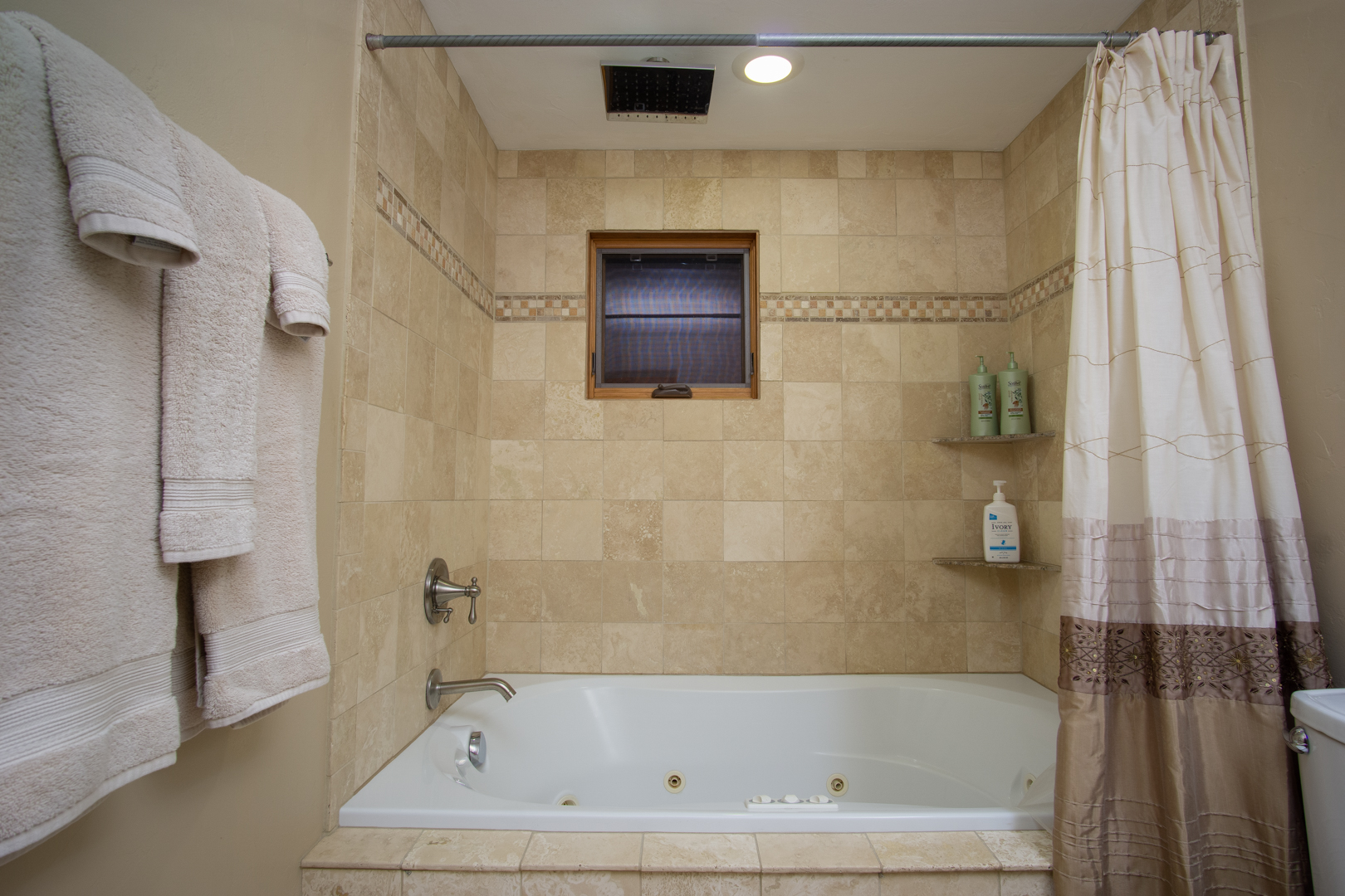 Master Bath Jetted Tub Shower combo