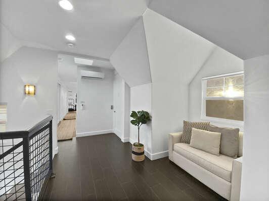 Third Floor Loft and Hallway to Bedrooms