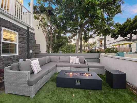 Outdoor Sofa and Fire Pit