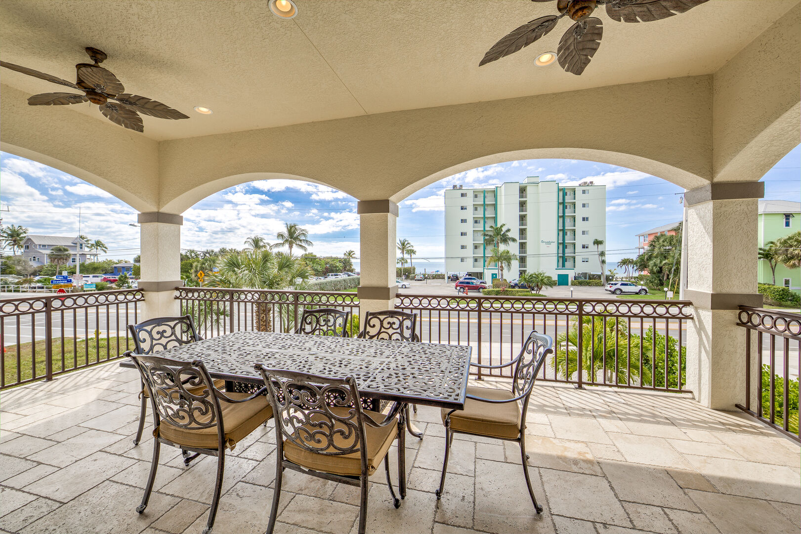 Spacious Balcony with Ocean View Island Grande Vacation Home