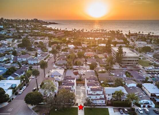 Welcome the LAJOLLA-SHORES, a La Jolla Luxury Rental, as seen from above!