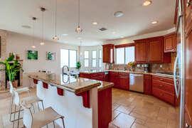 Large, upgraded kitchen.