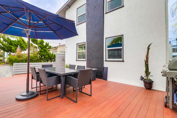 Front Porch seating at this Vacation Home in San Diego CA