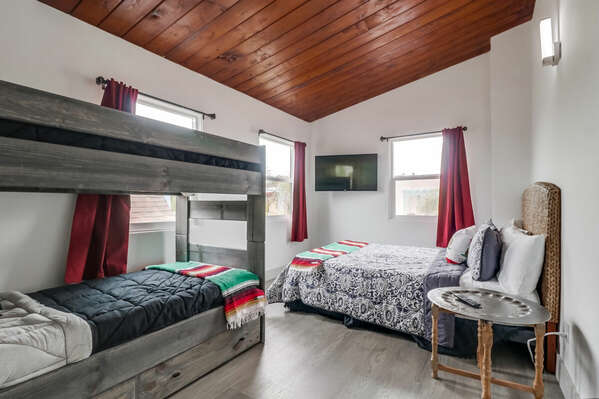Guest Bedroom with bed and bunk bed