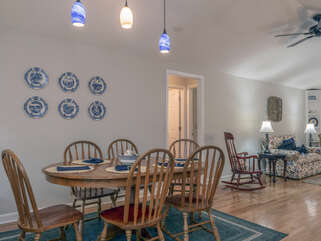 Dining room is open to the living room area