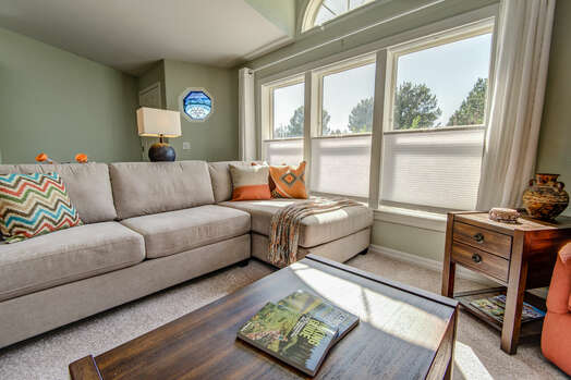 Sit Back and Enjoy the Large Windows with Red Rock Views and Plenty of Natural Light
