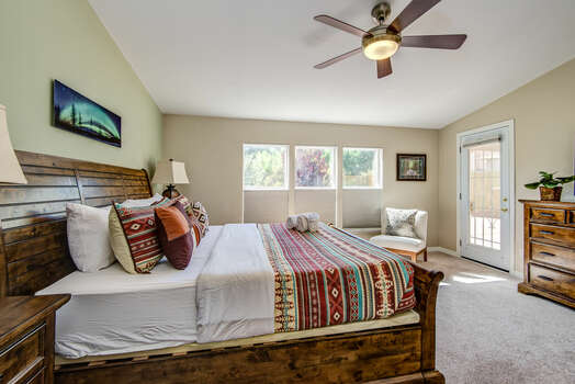 Master Bedroom with Natural Light and Deck Access