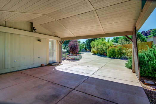 Carport with Parking for Two Cars