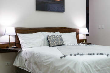 King bed in master