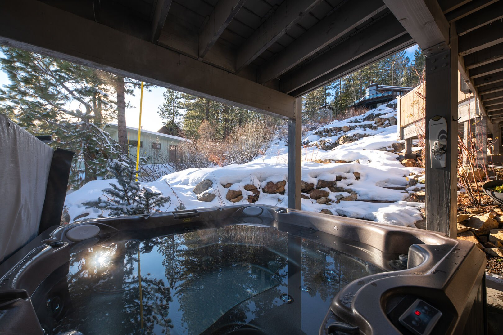 Shot of the under deck hot tub
