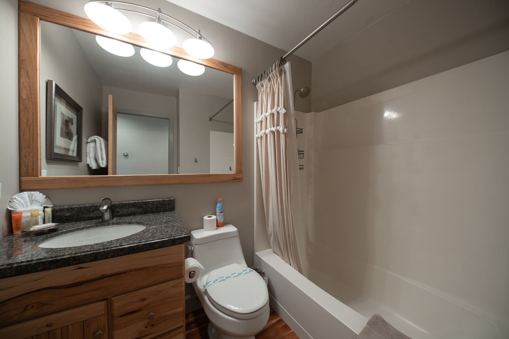 Bathroom with shower/tub combo and sink