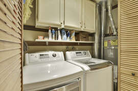 On site  washer and dryer.