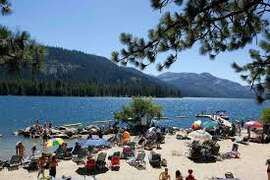 Come to the beach at Donner Lake!