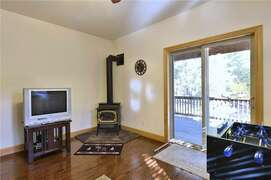 Family Room and Sliding Door to Deck
