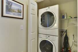 Washer and Dryer in Laundry Closet