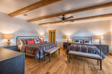 Lower level master bedroom - king and queen bed, full walk in closet and full attached bath.