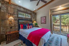 Upstairs Bedroom #1 with queen bed