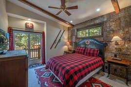 Upstairs Bedroom #2 with queen bed