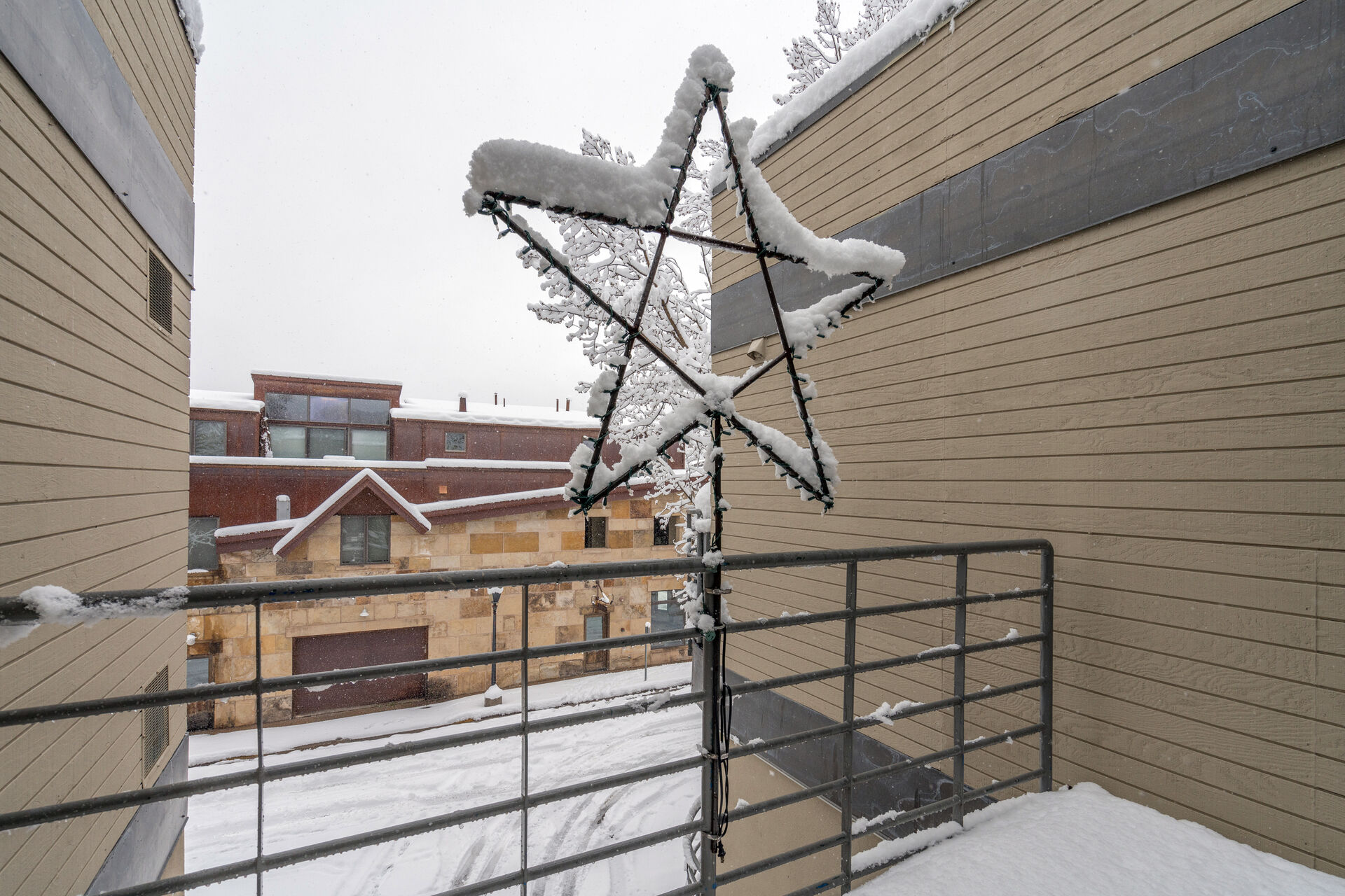 Exterior view from this Telluride condo for rent.