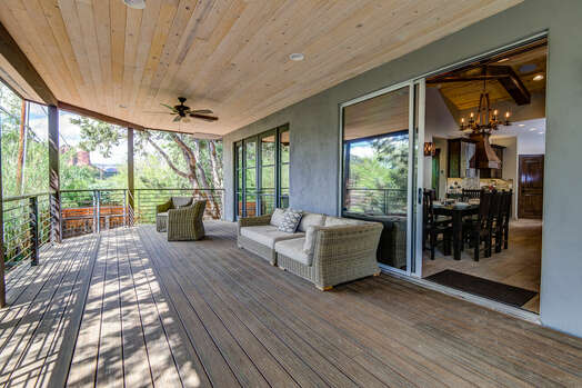 Spacious Deck off Living Room and Dining Area