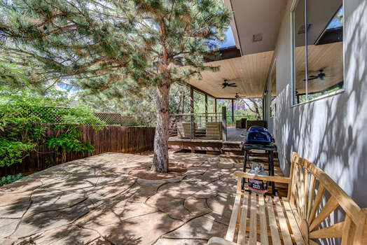 Side Patio with BBQ and Seating