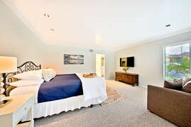 Master bedroom king bed.