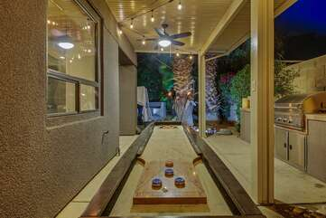 The Shuffleboard table is a favorite among return guests