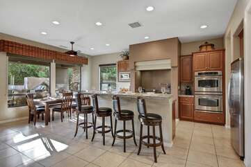 The kitchen has newer appliances and can be stocked with groceries prior to your arrival