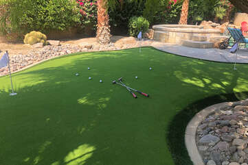 Get some practice on the brand new putting green, then take your skills to one of many golf courses around Coachella Vista.