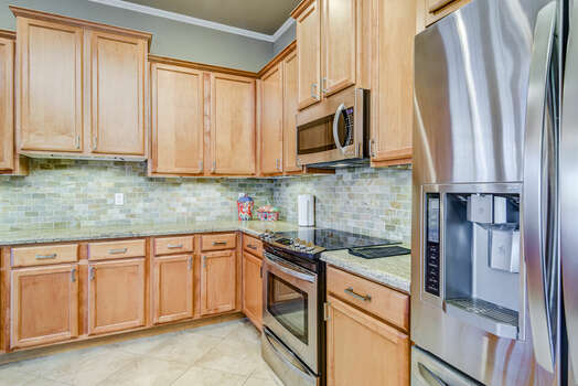 Stainless Steel Appliances including a 4-Burner Electric Range