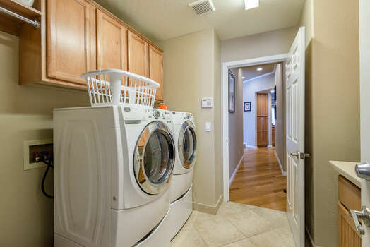 Laundry Room with Front Load Washer/Dryer