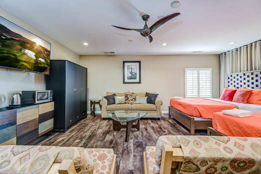 Generous Bedroom 3  with Sleeping Accommodations for up to 6