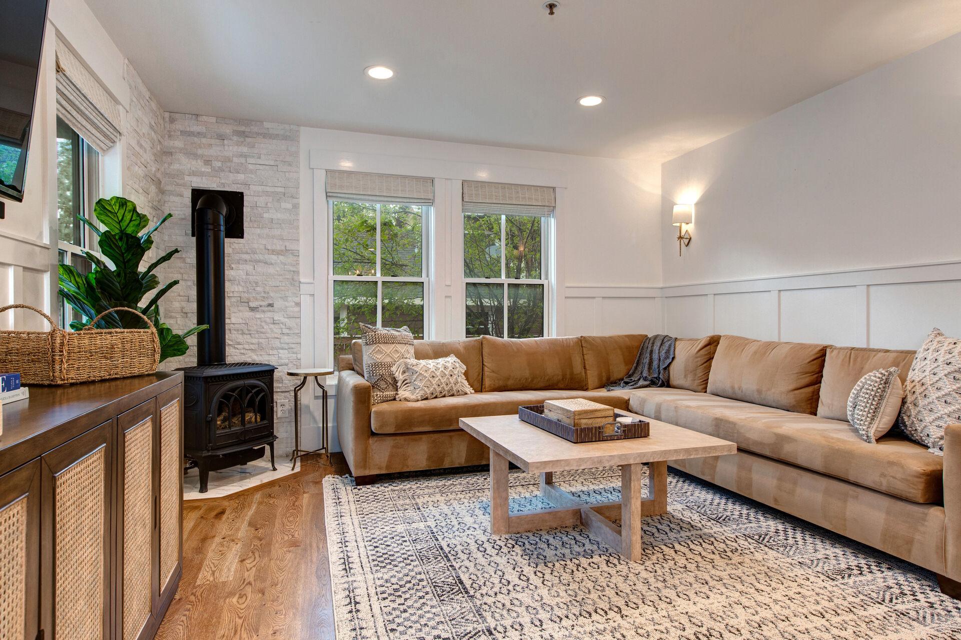 Main Level Adorned with Lovely Hardwood Floors