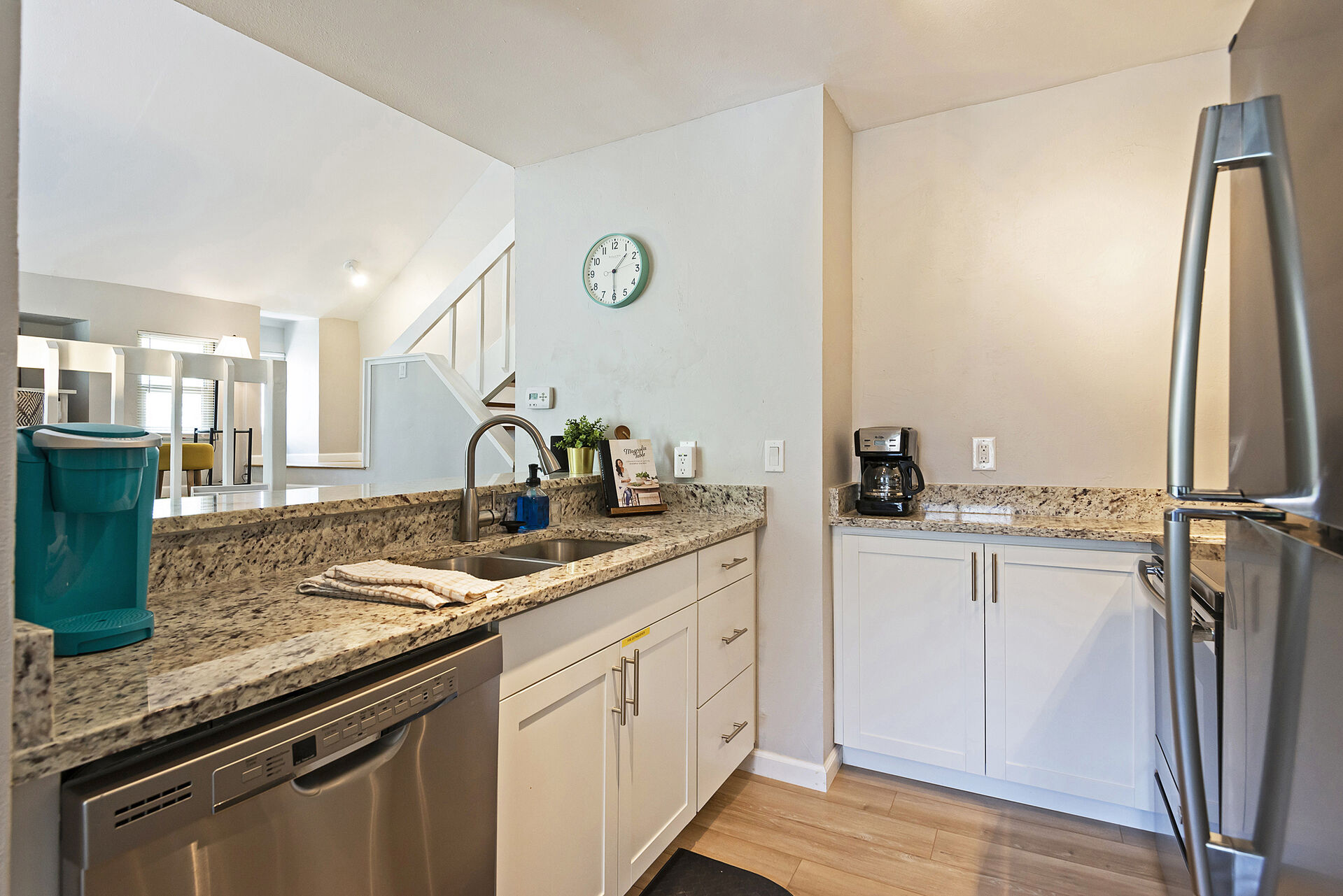 Fully Equipped Kitchen with  Drip and Keurig Coffee Makers