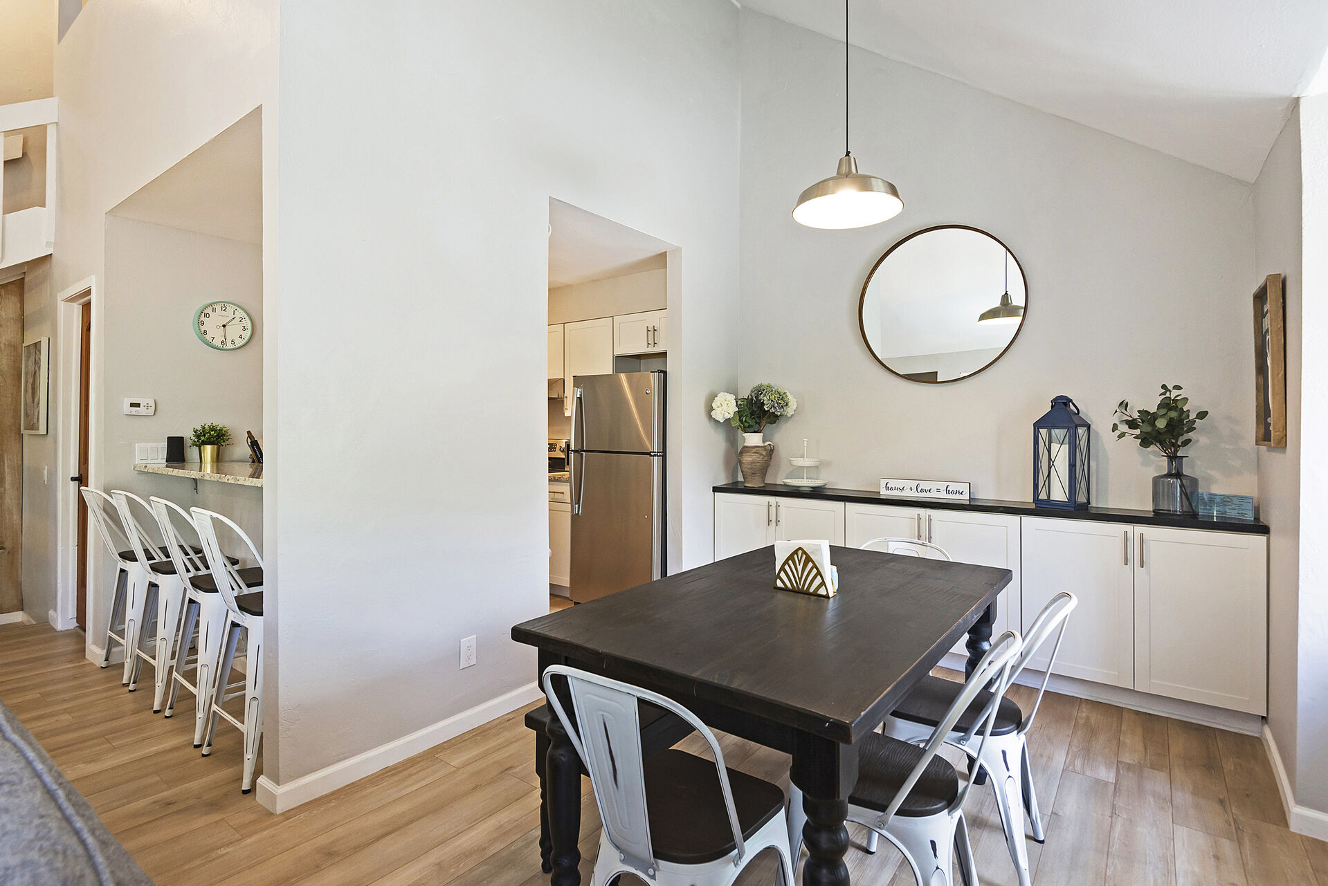 Dining Area with Seating for Seven and Kitchen Bar Seating for Four